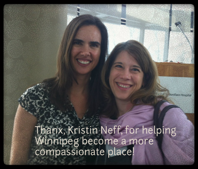 Kristin Neff at the Compassion Project workshop on self compassion in Winnipeg Manitoba March 2013