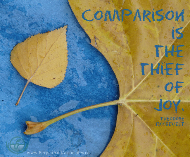 Comparison is the thief of joy. Theodore Roosevelt