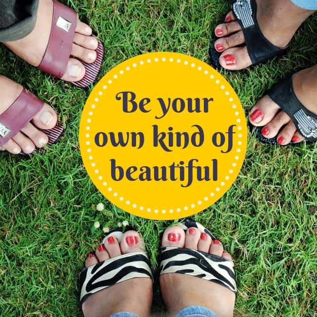 "Poster encouraging ""Be your own kind of beautiful"" by Bergen and Associates Counselling"