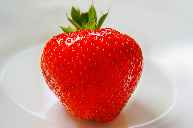 A strawberry is an excellent tool for mindfulness based activity
