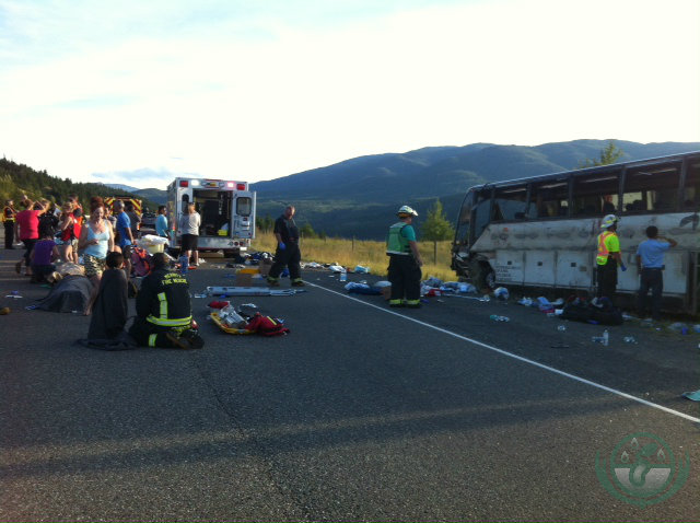 Order after the chaos in the BC bus accident on the Coquihilla in August 2014