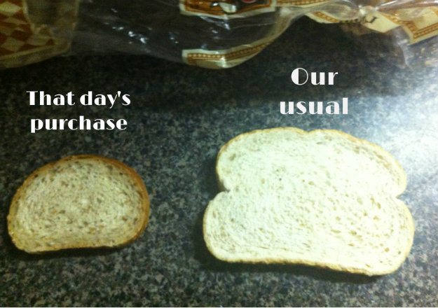 The day I yelled at my JTM, it was about bread size.