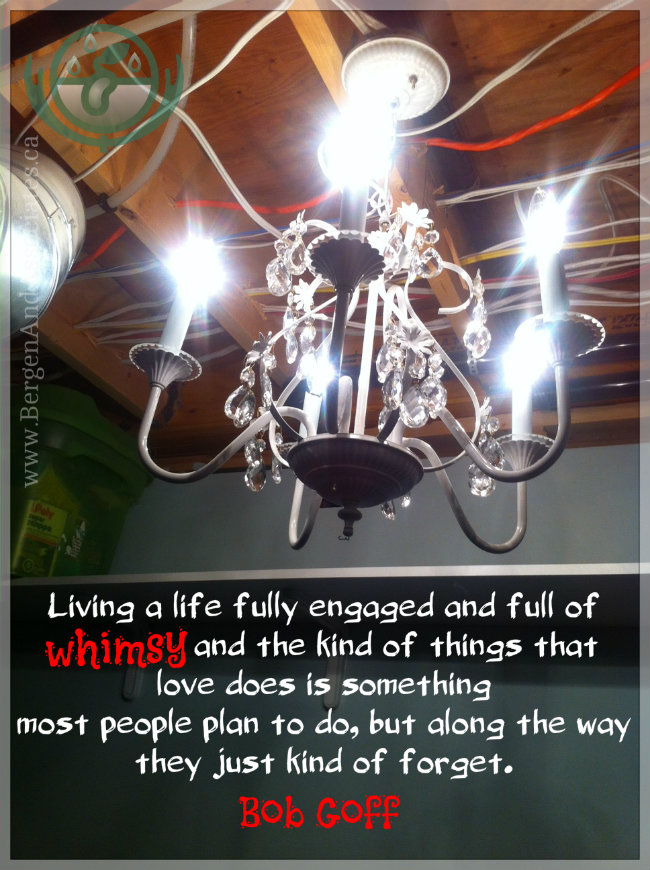 Living a life fully engaged and full of whimsy and the kind of things that love does is something most people plan to so, but along the way, they just kind of forget. Quote by Bob Goff