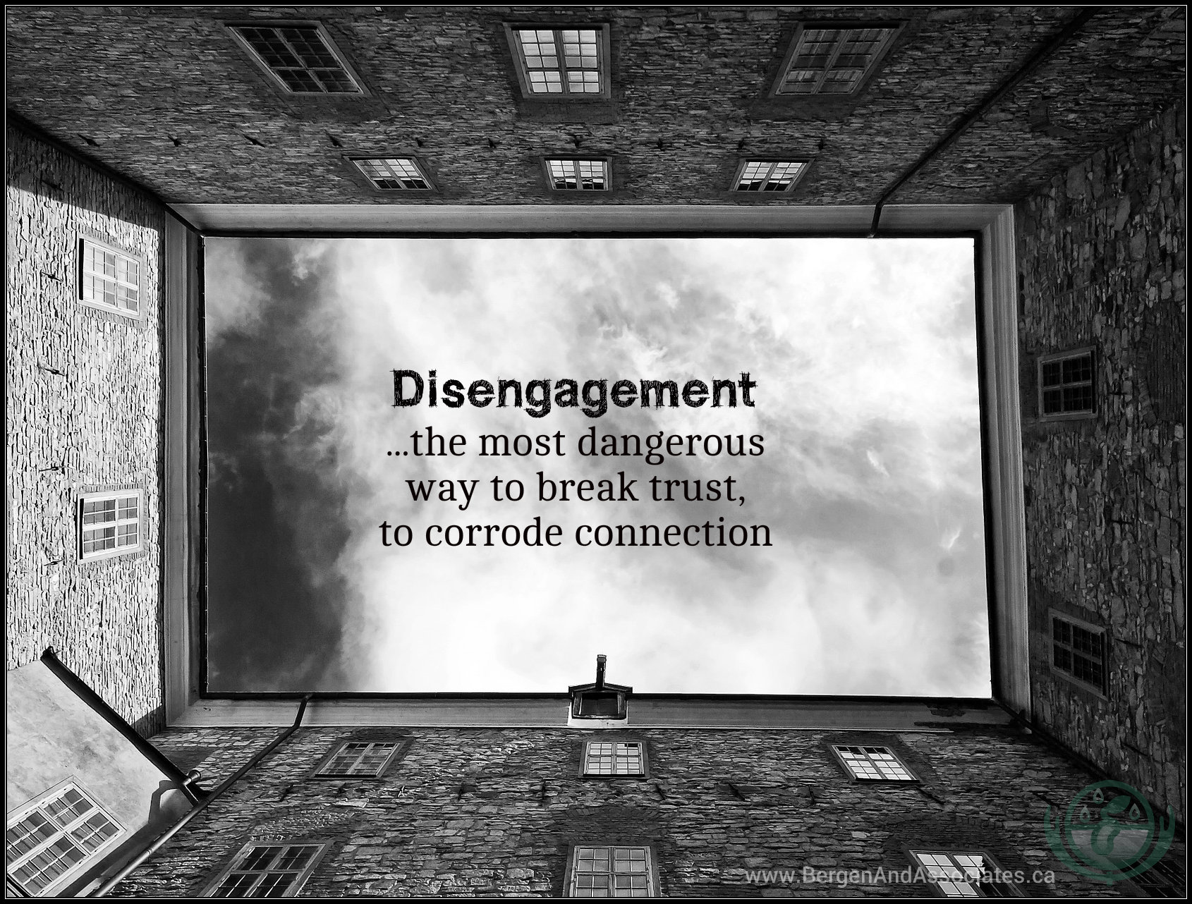 Disengagement is the most dangerous way to corrode connection.
