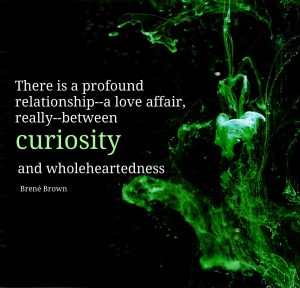 Conexus Counselling Poster by Brené Brown: There is a profound relationship--a love affair, really--between curiosity and wholeheartedness
