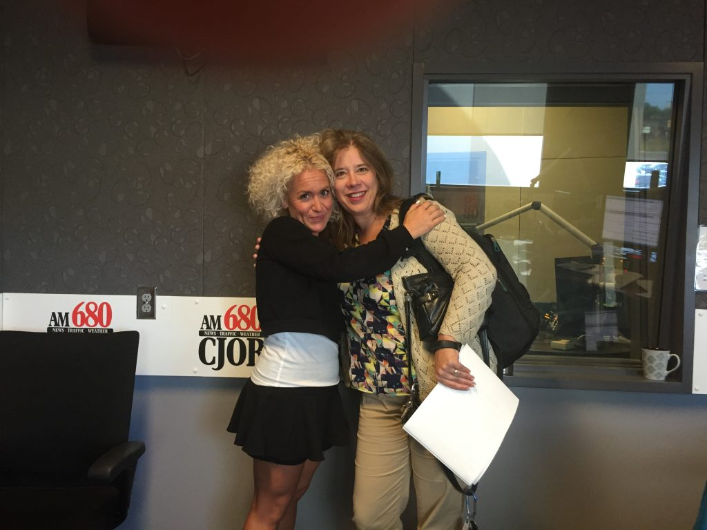 "Dahlia Kurtz and Carolyn Klassen during the regular Thursday afternoon show where we talk with Carolyn as ""resident therapist"" in Winnipeg on 680CJOB"