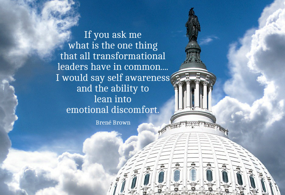 If you ask me what is the one thing that all transformational leaders have in common....I would say self awareness and the ability to lean into emotional discomfort. Quote by Brene Brown