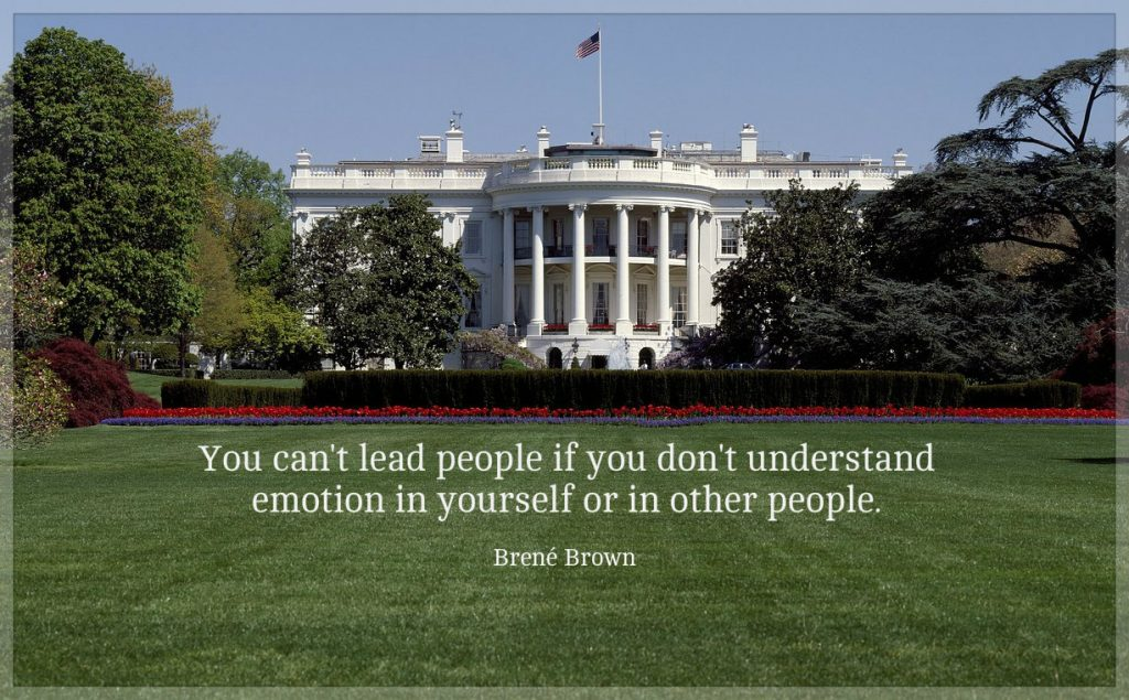 """Brene Brown quote: You can't lead people if you don't understand emotion in yourself or in other people"""""""
