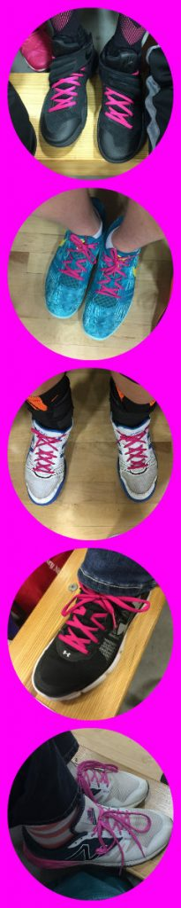 Coaches also participated in remembering JTM's mom's memory. He was loved through pink shoelaces.