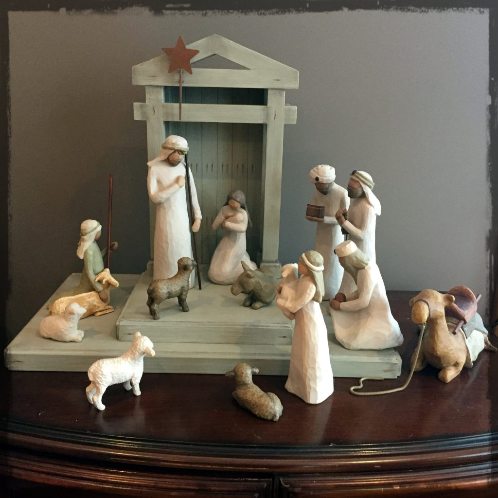 Scene of Klassen Christmas crèche, which has a meaningful story of its arrival