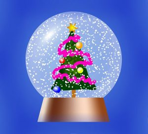 Snow globe: where we felt enveloped in safety of Tree Decorating Night. In a season of difficult we were in a bubble of joy