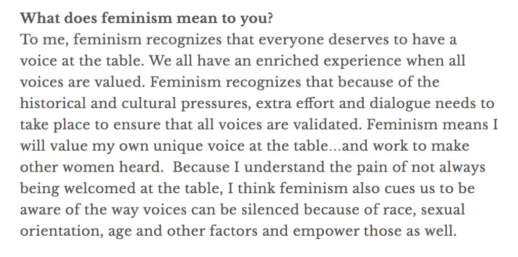 A short clip of Brittany May's fierce female project where Carolyn Klassen explained what feminism means to her