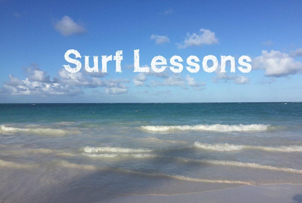 """Surf lessons"" on coast surf...large waves"