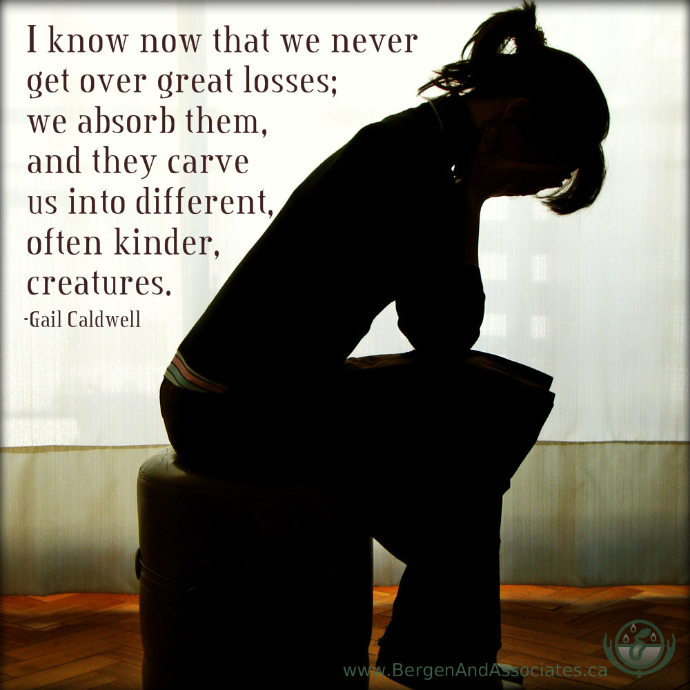 I know now that we never get over great losses; we absorb them, and they carve us into different, often kinder, creatures. Quote by Gail Caldwell.
