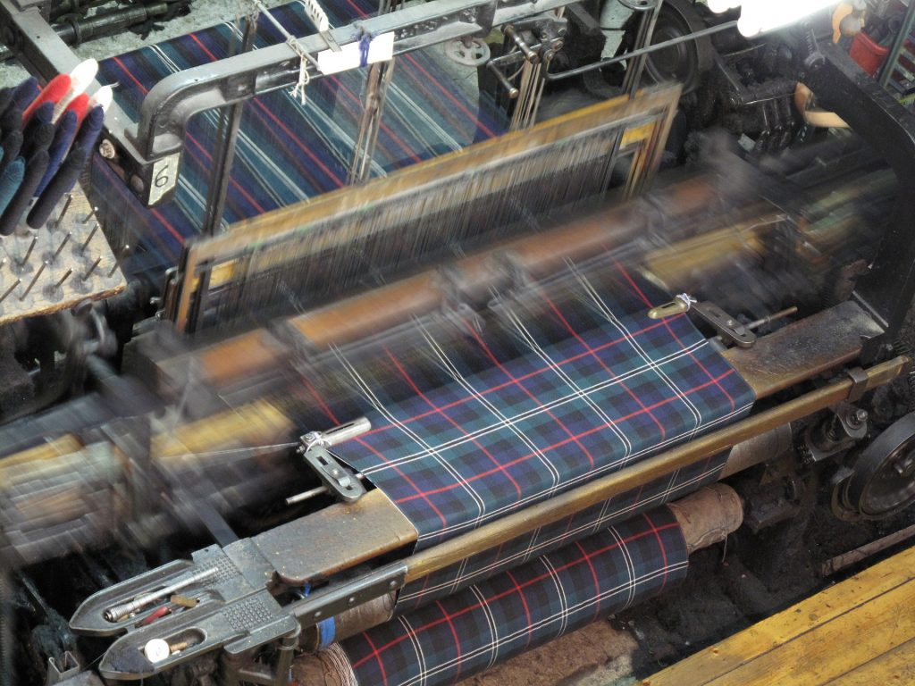 Weaving of plaid fabric on blog about my still born twin sons.