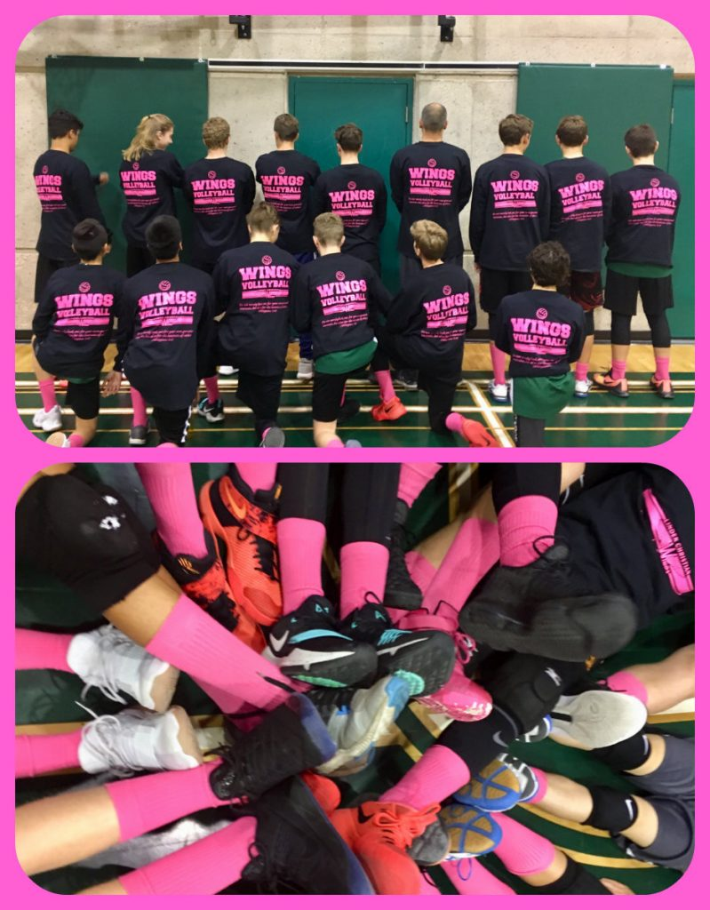 Pinks socks and pink shirts celebrate my son's memory of his mother and mourn his loss with him.