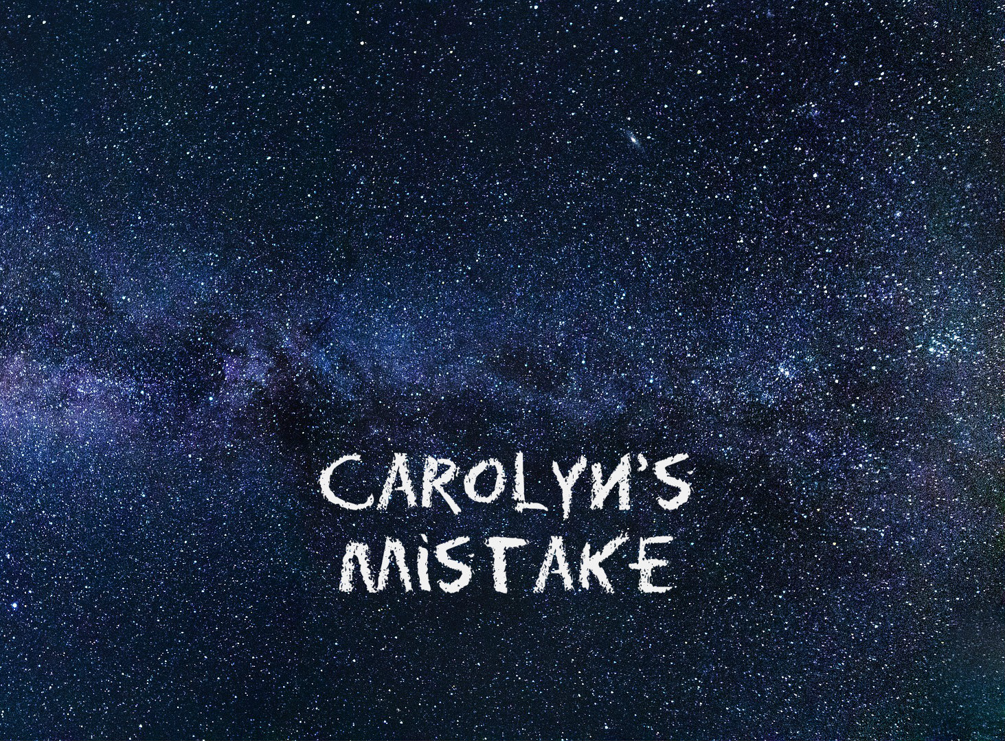 Carolyn's Mistake. A blog about what I decided to do about a big expensive mistake I made.