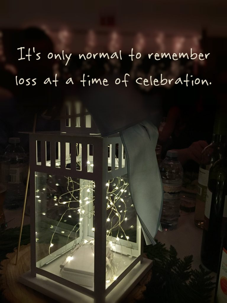 A hole in the celebration: It's only normal to remember loss at a time of celebration