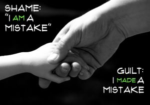 "Shame is ""I am a mistake"" Guilt is ""I made a mistake"""
