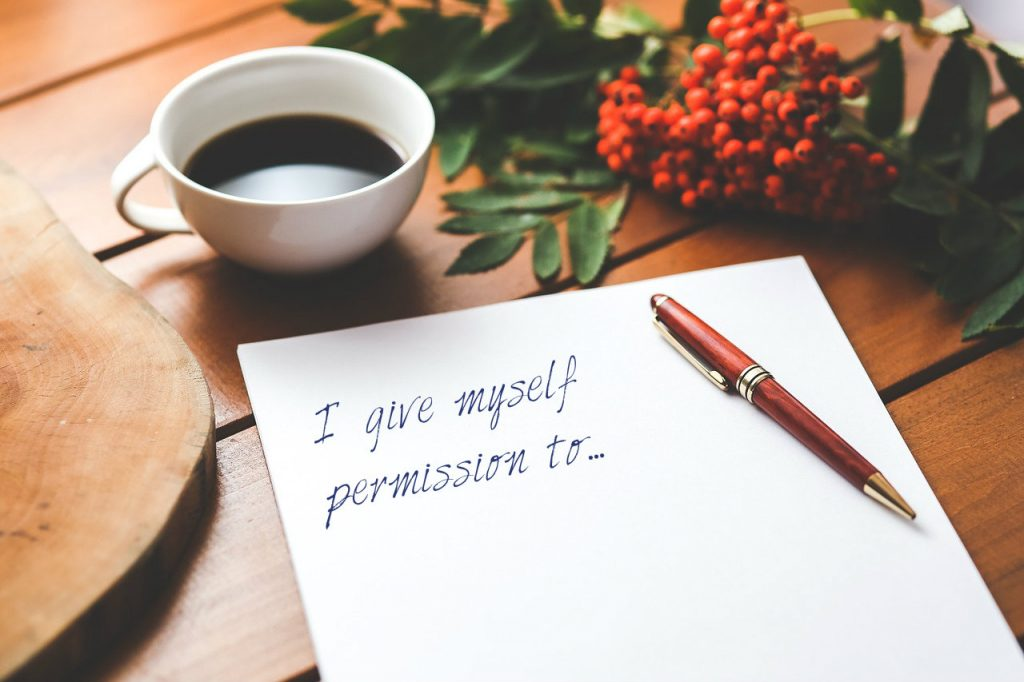 Permission slips are a helpful mental health strategy as well as a good business strategy from Dare to lead by Brené Brown on blog post about Mental Health Awareness Day