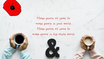 World Peace starts at Home