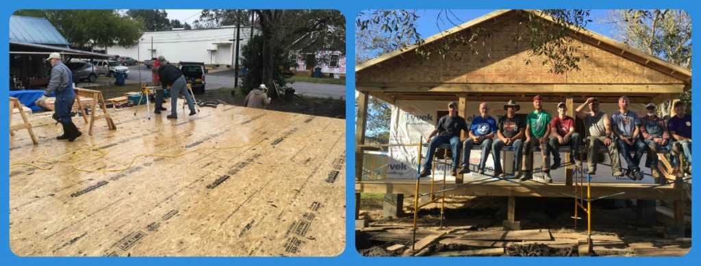 Husband spent a week volunteering in Texas to rebuild a house after Hurricane Harvey. On a blog about emotional labour