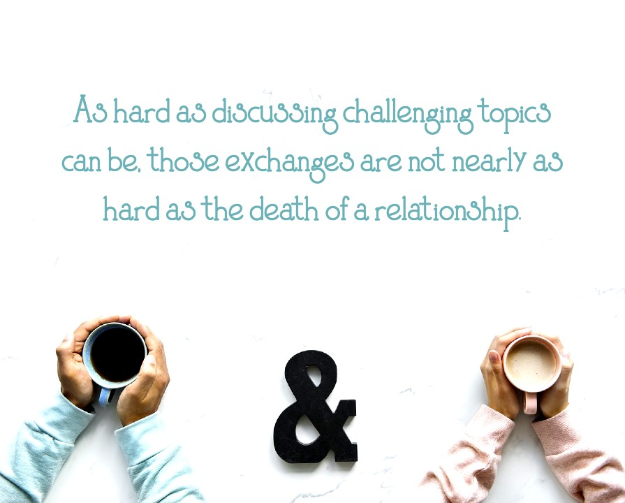 New book: Nice to a fault. As hard as discussing challenging topics can be, it's not as hard as the death of a relationship