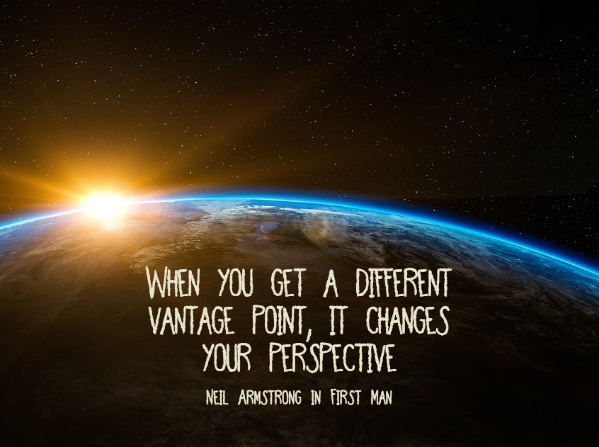 Neil Armstrong quote on article of New Zealand shootings: When you get a different vantage point, it changes your perspective.