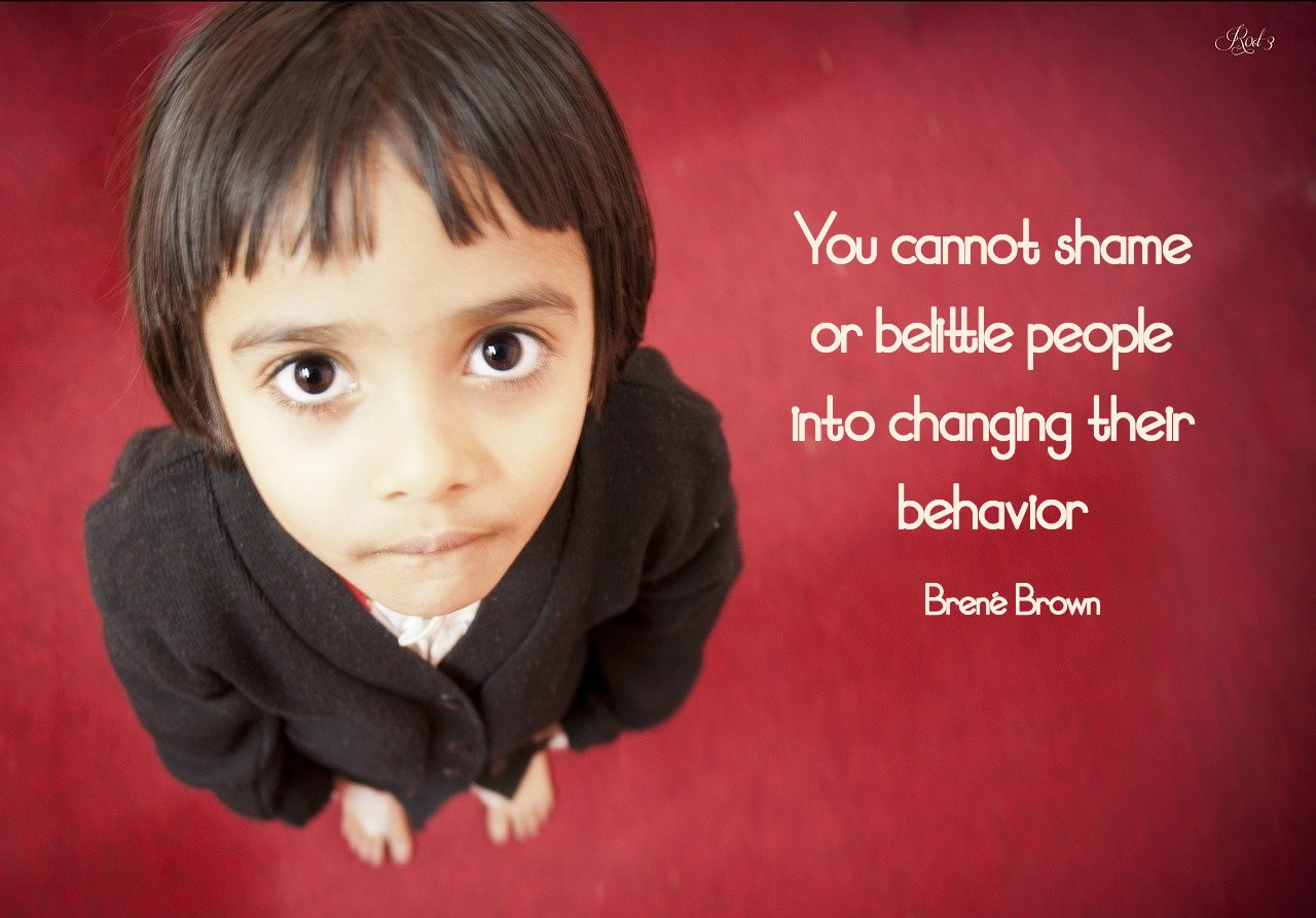 You cannot shame or belittle people into changing their behavior. Brené Brown