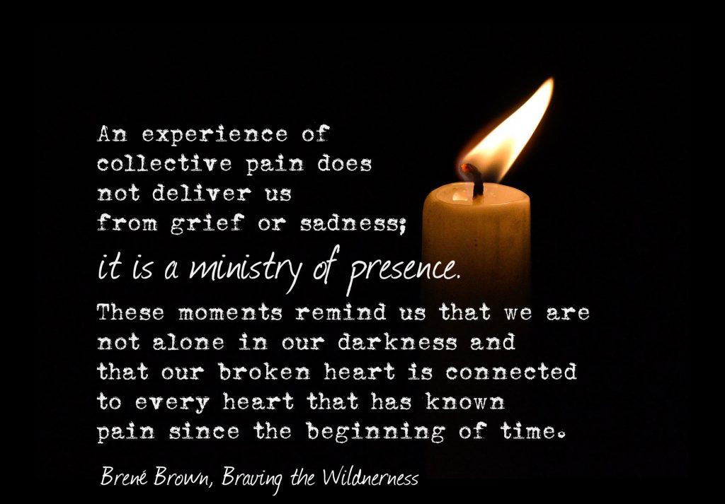 Brent Brown's quote on ministry of presence