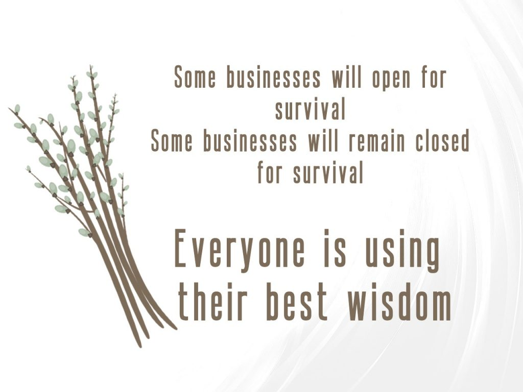 Some businesses will open or remain closed for survival in Phase 1 of Manitoba's Restoring Safe Services. Everyone is using their best wisdom