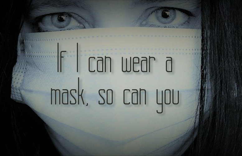 A complex PTSD trauma survivor proclaims: If I can wear a mask, so can you