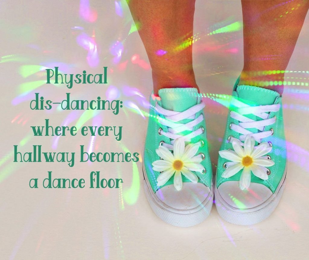 Social dis-dancing Social Distancing in the hallway. Where every pass becomes choreography