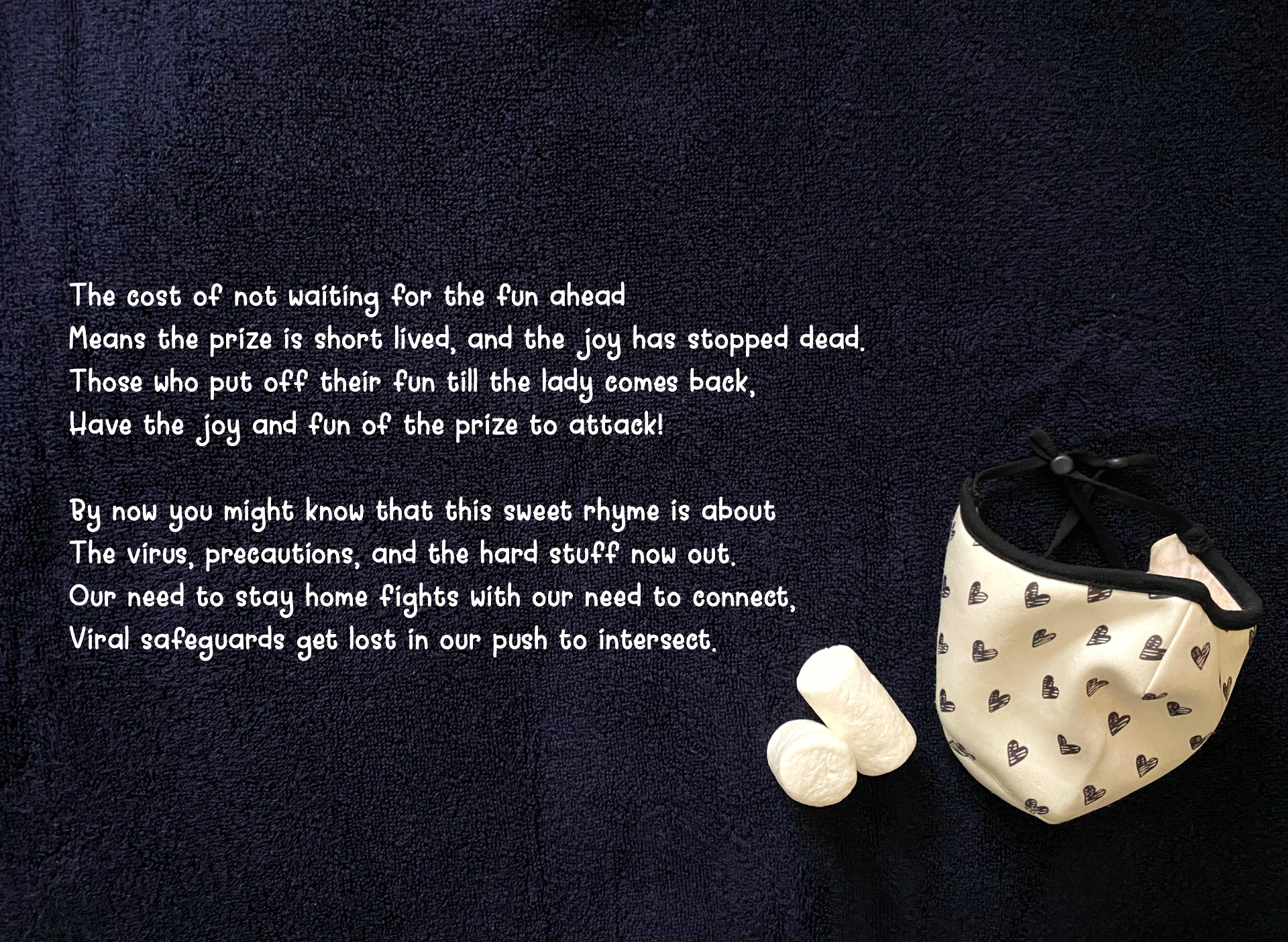 Marshmellovid-19 poem. A whimsical reminder to stay home