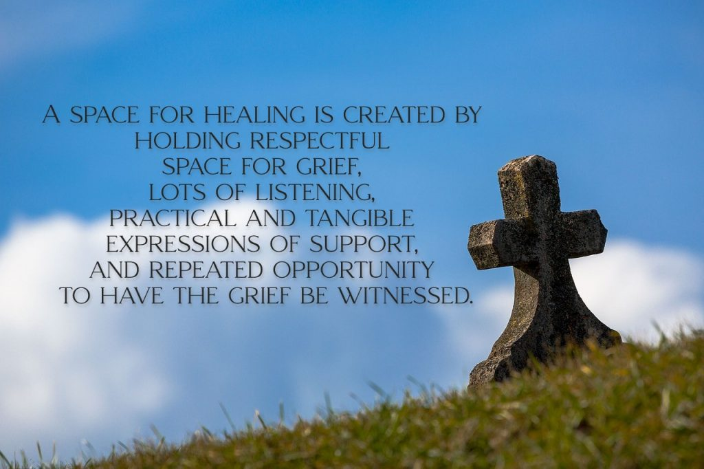 On article about residential schools, 215 children in grave in Kamloops. A place for healing is created by holding respectful space